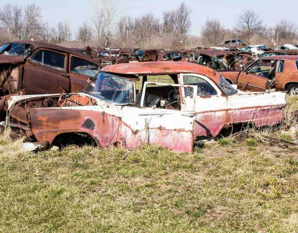Salvage junk yard in Markham